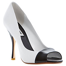 Buy Dune Carine Court Shoes, Black/White Online at johnlewis.com