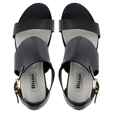 Buy Dune Givara Two Part Ankle Cuff Side Buckle Wedge Platform Sandals, Black Online at johnlewis.com