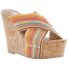 Buy Steve Madden Pride Criss Cross Strap Stud Platform Wedge Sandals Online at johnlewis.com