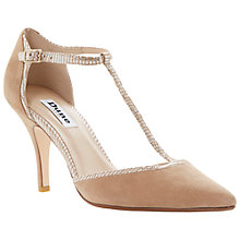 Buy Dune Carosel Ribbon Trim Two Part T-Bar Stiletto Court Shoe Online at johnlewis.com