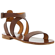 Buy Bertie Jumpy Leather Sandals, Tan Online at johnlewis.com