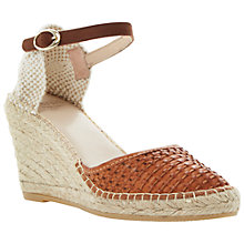 Buy Bertie Gabbi Leather Wedge Espadrilles Online at johnlewis.com