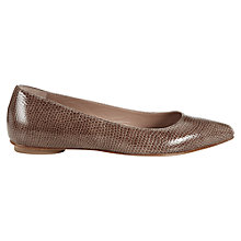 Buy Jigsaw Isabella Leather Ballerinas Online at johnlewis.com