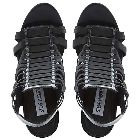 Buy Steve Madden Stretche Gladiator Stiletto Sandals, Black Online at johnlewis.com