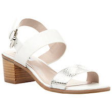 Buy Dune Finchy Leather Block Heeled Sandals Online at johnlewis.com