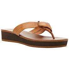 Buy Dune Jennys Low Wedge Leather Toe Post Sandals Online at johnlewis.com