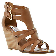 Buy Dune Gerad Leather Wedge Sandals Online at johnlewis.com