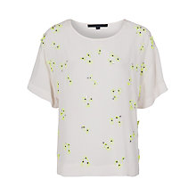 Buy French Connection Fluro Embellished Top Online at johnlewis.com