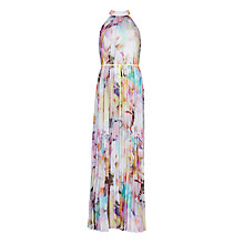 Buy Ted Baker Hebuca Electric Dream Maxi Dress, Lemon Online at johnlewis.com