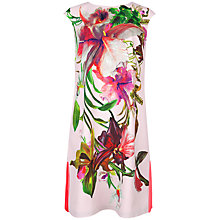 Buy Ted Baker Ramonda Symmetrical Orchid Print Tunic Dress, Nude Pink Online at johnlewis.com
