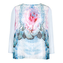 Buy Ted Baker Xena Cubist Floral Top, Powder Blue Online at johnlewis.com