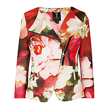 Buy Ted Baker Isabeau Rose On Canvas Biker Jacket, Bright Pink Online at johnlewis.com