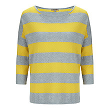 Buy Jigsaw Combed Cotton Stripe Sweater Online at johnlewis.com