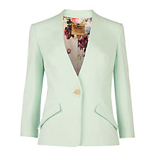 Buy Ted Baker Ellsie Curved Hem Jacket, Pale Green Online at johnlewis.com