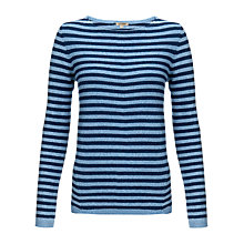 Buy Jigsaw Breton Striped Jumper, Denim Online at johnlewis.com
