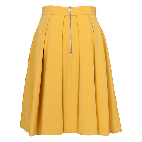 Buy French Connection Feather Flared Skirt, Citronella Online at johnlewis.com