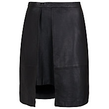Buy French Connection Nevada Leather Skirt, Black Online at johnlewis.com