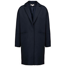 Buy Whistles Dina Overcoat, Navy Online at johnlewis.com