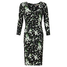 Buy Jigsaw Falling Freesia Dress, Black Online at johnlewis.com