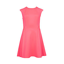 Buy Ted Baker Nistee Side Pleated Skater Dress, Mid Pink Online at johnlewis.com