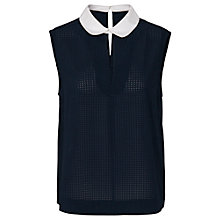 Buy French Connection Picnic Top, Utility Blue/White Online at johnlewis.com