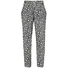 Buy French Connection Animal Print Trousers, Winter White/Black Online at johnlewis.com