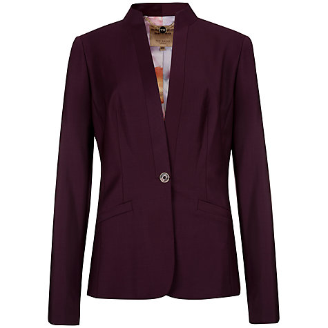 Buy Ted Baker Thalea Shiny Lavanta Suit Jacket, Grape Online at johnlewis.com
