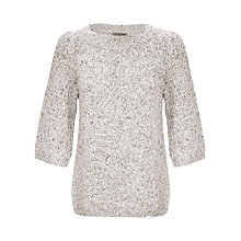 Buy Jigsaw Cotton Kimono Sleeve Sweater, Melange Grey Online at johnlewis.com