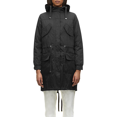 Buy Whistles Alfie Casual Parka, Navy Online at johnlewis.com