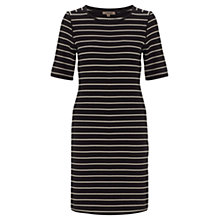 Buy Jigsaw Heavy Jersey Dress, Black Online at johnlewis.com