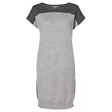 Buy Jigsaw Colourblock Knitted Dress, Grey Online at johnlewis.com