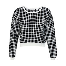 Buy Miss Selfridge Checked Monochrome Jumper, Assorted Online at johnlewis.com