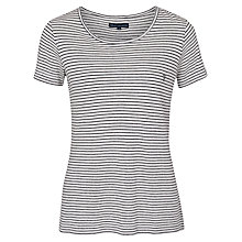 Buy French Connection Sandra T-Shirt, White/Utility Blue Online at johnlewis.com