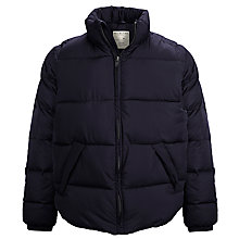 Buy Selected Homme Whelm Quilted Puffer Jacket, Navy Blazer Online at johnlewis.com