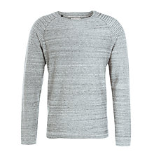 Buy Selected Homme Clifton Crew Neck Jumper, Light Grey Online at johnlewis.com