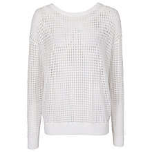Buy French Connection Stitch Jumper, Winter White Online at johnlewis.com