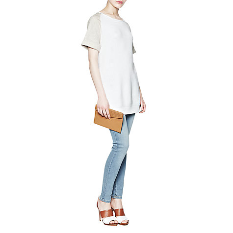 Buy French Connection Conrad Top, Oatmeal/White Online at johnlewis.com