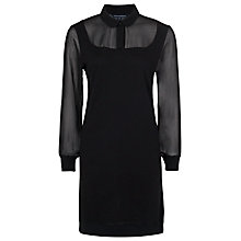 Buy French Connection Ditton Cotton Dress, Black Online at johnlewis.com