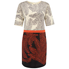 Buy Hobbs Cade Silk Blend Dress, Black Multi Online at johnlewis.com