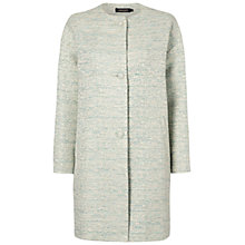 Buy Jaeger Lurex Tweed Coat, Aquamarine Online at johnlewis.com