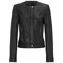 Buy Jaeger Zip Front Biker Jacket, Black Online at johnlewis.com