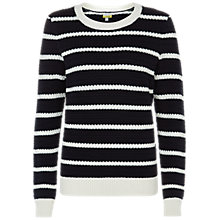 Buy NW3 by Hobbs Olivia Jumper, Navy/Ivory Online at johnlewis.com