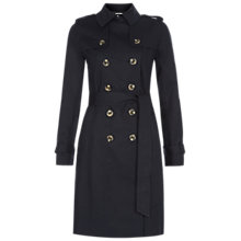 Buy Hobbs Saskia Trench Coat, Navy Online at johnlewis.com