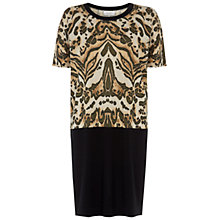 Buy Hobbs Macy Dress, Black Multi Online at johnlewis.com