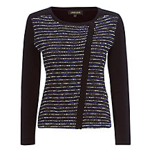 Buy Jaeger Textured Colour Block Cardigan, Blue Online at johnlewis.com