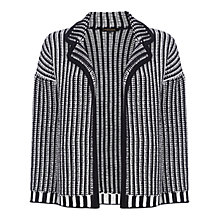 Buy Jaeger Chunky Textured Knit Jacket, Ivory / Navy Online at johnlewis.com