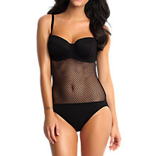 Buy Seafolly Net Effect Maillot Swimsuit, Black Online at johnlewis.com