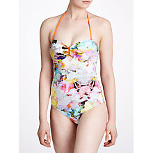 Buy Ted Baker Belah Swimsuit, Yellow Online at johnlewis.com