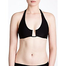 Buy Ted Baker Jjilian Angular Bikini Top, Black Online at johnlewis.com
