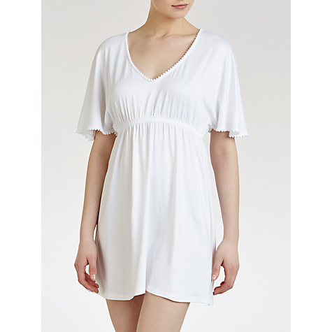 Buy John Lewis Pompom Kaftan, White Online at johnlewis.com
